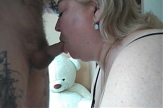 I fill her mouth with cum after a blowjob