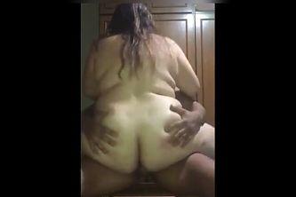 Chubby BBW latina friend with nice ass riding n getting cum
