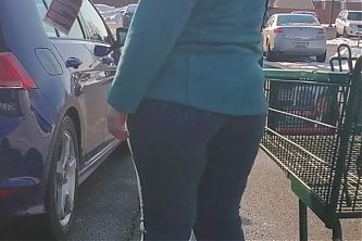 Thick Booty PAWG Shopping with Simpleton Husband #3