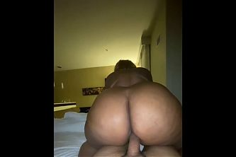 Big booty grandmother getting some dick