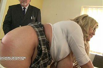 Big Boobs Schoolgirl gets caned