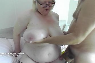 I love getting my huge boobs massaged