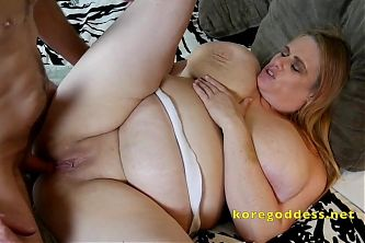 Anal sex for this Nurse with huge saggy tits