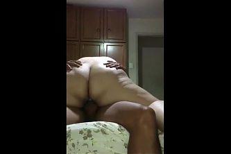 Fat Ass BBW married latina friend loves riding my cock