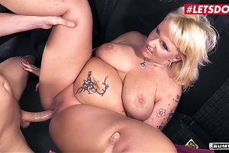 LETSDOEIT Hot BBW Kitty Wilder Goes For A Ride On The Night