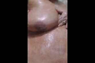 Latin Milf in shower