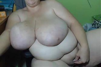 BBW Playing With Her Huge Boobs And Big Clit