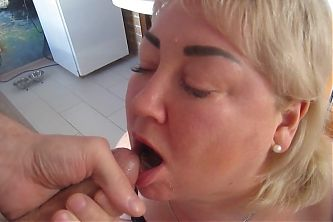 mother-in-law loves sucking cock, sex and cum in her mouth