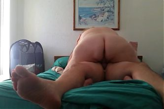 my bbw wife fucking me cowgirl till the cum starts dripping