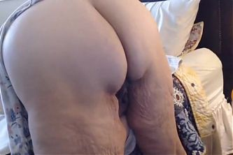 BBW granny shows her fat meaty cunt and ass in doggy style
