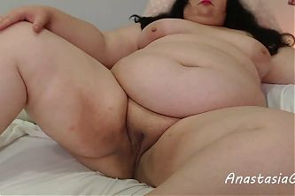 Naughty BBW with nice pussy and big tummy
